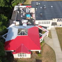 School Building - Snap Lock Panel Roof in Red Brilliance 5