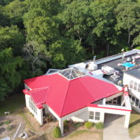 School Building - Snap Lock Panel Roof in Red Brilliance 10