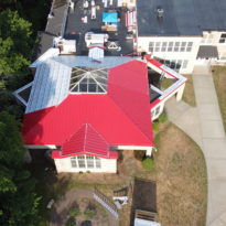 School Building - Snap Lock Panel Roof in Red Brilliance