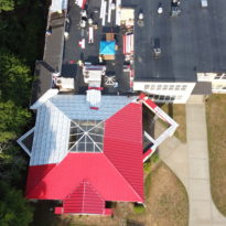 School Building - Snap Lock Panel Roof in Red Brilliance 2