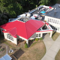 School Building - Snap Lock Panel Roof in Red Brilliance 8