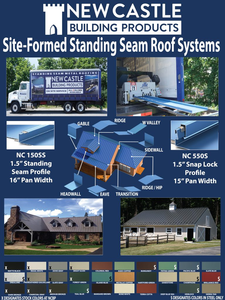 Site-Formed Standing Seam Roof Systems